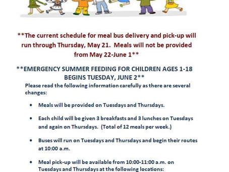 Summer Food Program to Begin June 2