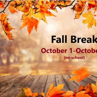 Fall Break is Oct. 1-8