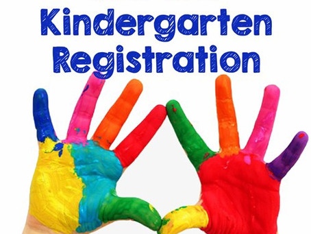 Online Registration Open for Pre-K & Kindergarten