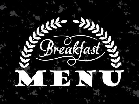 Summer School Breakfast Menus