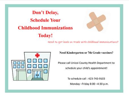 Parents Invited to Schedule Immunizations for Children
