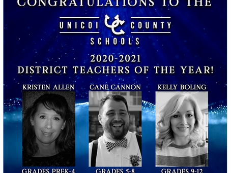 Congratulations to the 2020-2021 Teachers of the Year
