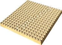 Тактильная плитка с квадратными рифами