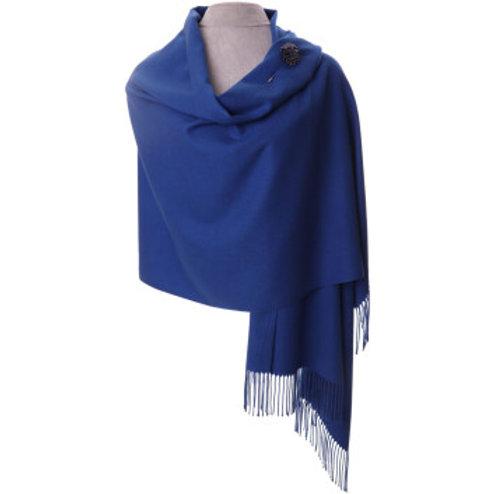 Royal Blue Pashmina with scarf pin
