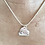 Thumbnail: Sterling Silver Double Cut Out Heart pendant with pressed design