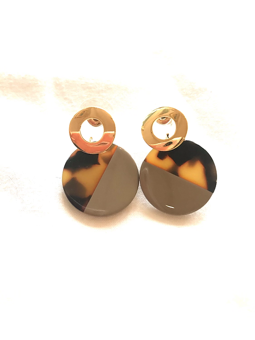 Resin Drop Circle Earrings