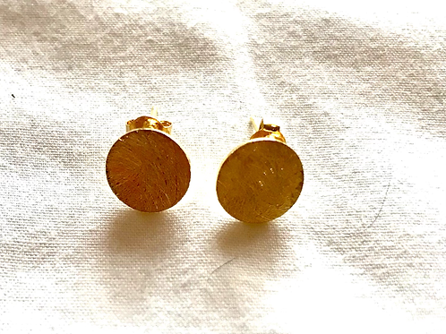 Tilley and Grace Gold Plated Stud Disc Earrings