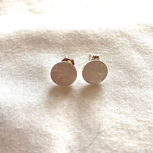Tilley and Grace Silver Plated Stud Disc Earrings