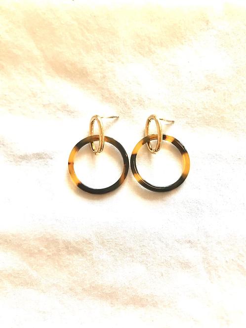 Resin Drop Hoop Earrings