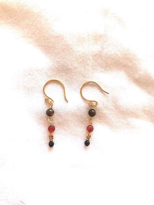Katherine Bree Delicate Ember Drop Earrings