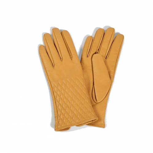 Leather Quilted Gloved (Mustard)