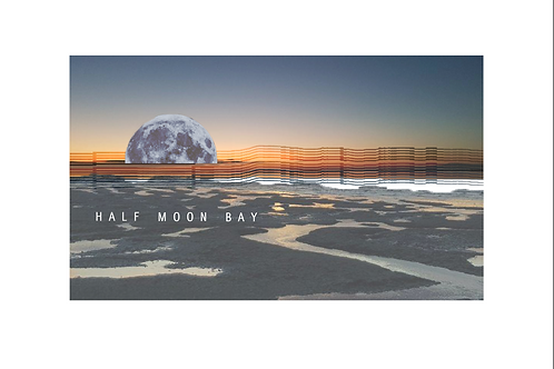 Giclee A4 print Half Moon Bay