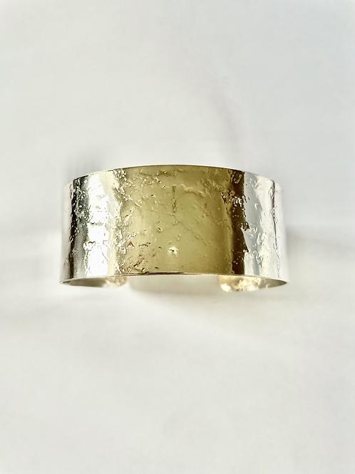 Sterling Silver Cuff - pressed pattern