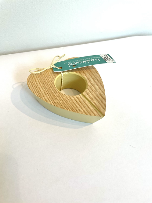 Heart Shaped Wooden Egg Cup