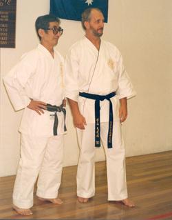 Sensei Paul Mitchell Hanshi with Tani Sensei