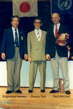 Sensei Shigemasa Kawata, Sensei Chojiro Tani, Sensei Paul Mitchell