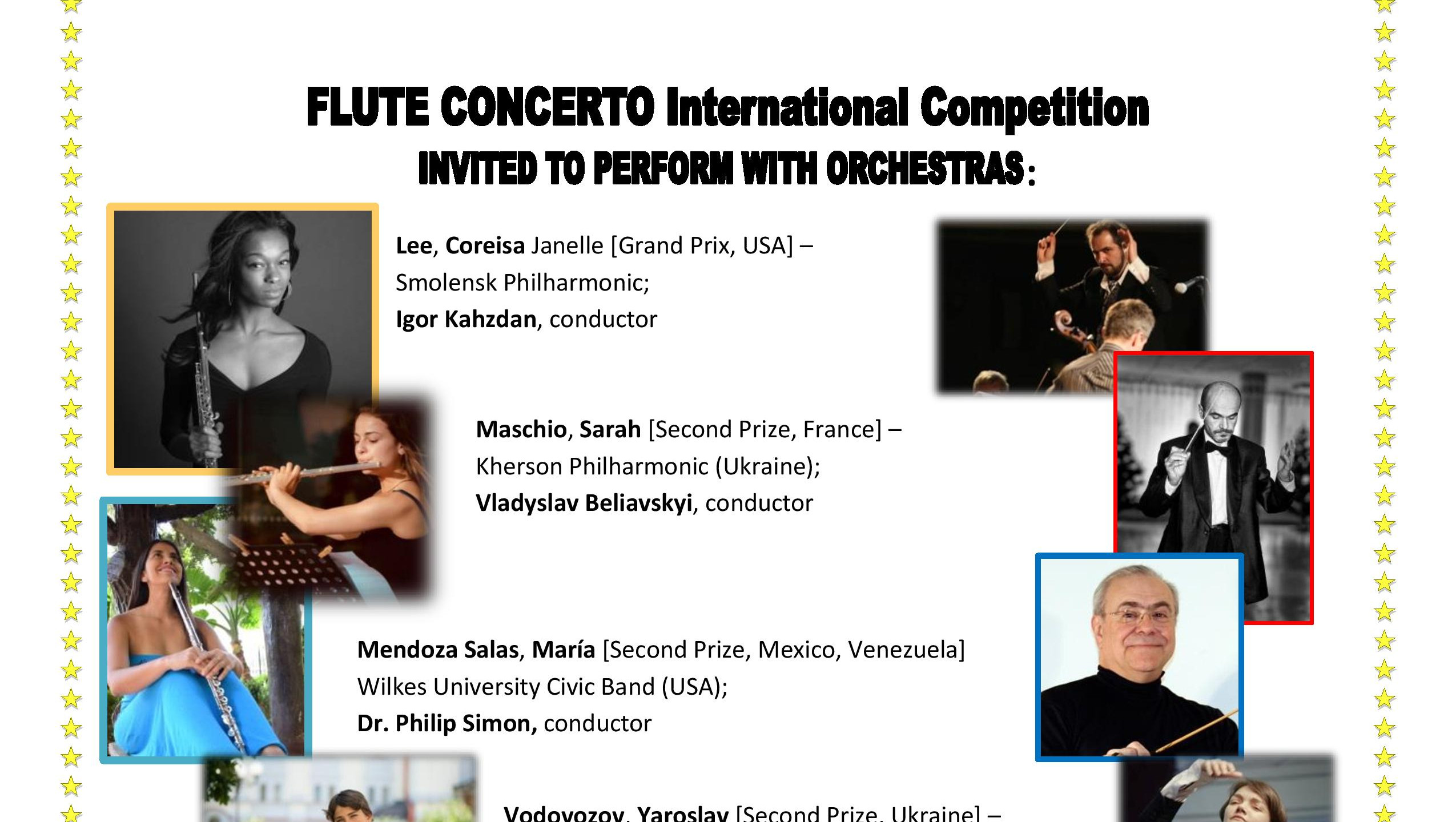 ANNOUNCEMENT of ORCHESTRAS