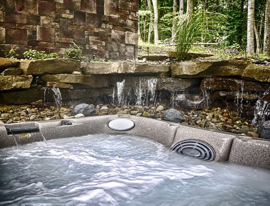 Hot Tub with waterfalls