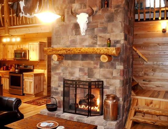 Fireplace on main floor
