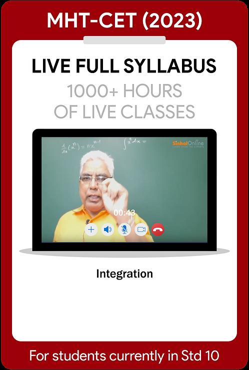 MHT-CET 2023 Live Full Syllabus Course