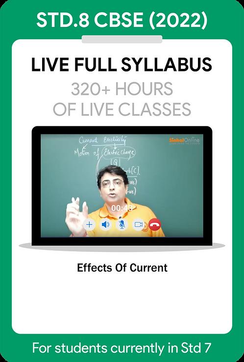 Std 8 CBSE 2022 Live Full Syllabus Course