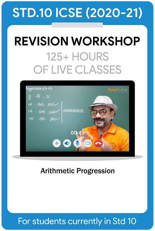 Std 10 ICSE 2021 Live Revision Workshop