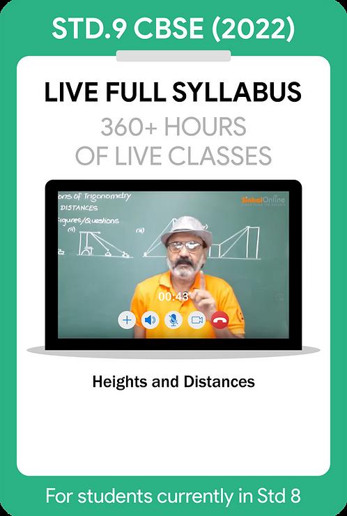 Std 9 CBSE 2022 Live Full Syllabus Course