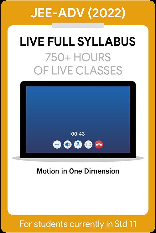 JEE-Main+Advanced 2022 Live Full Syllabus Course