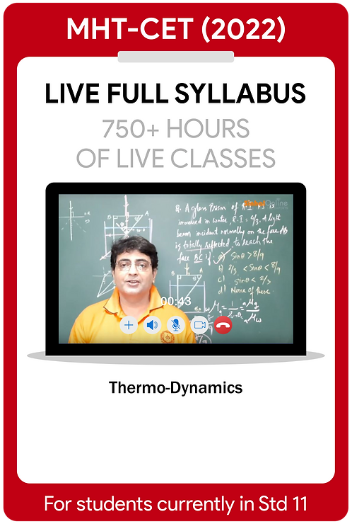 MHT-CET 2022 Live Full Syllabus Course