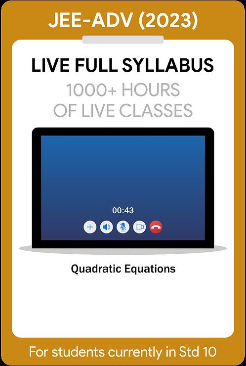JEE-Main+Advanced 2023 Live Full Syllabus Course