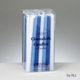 Blue and White Wax Candles
