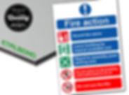 Πινακίδα από αλουμίνιο etalbond 3mm και ψηφιακή εκτύπωση σε αυτοκόλλητο βινυλίου.