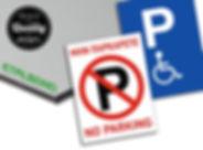 Πινακίδα No Parking ή αναπηρικής θέσης από αλουμίνιο etalbond 3mm.