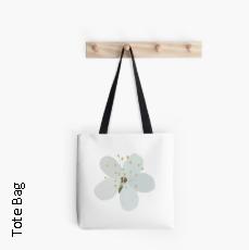 White Blossom - Tote Bag