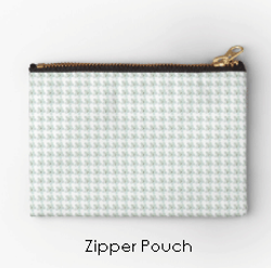 White-Blossom-Zipper-Pouch