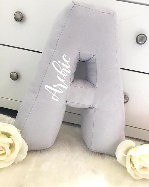 Grey Personalised Initial Cushions