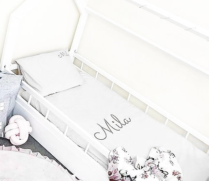 Personalised Bed Sets - TODDLER -WHITE