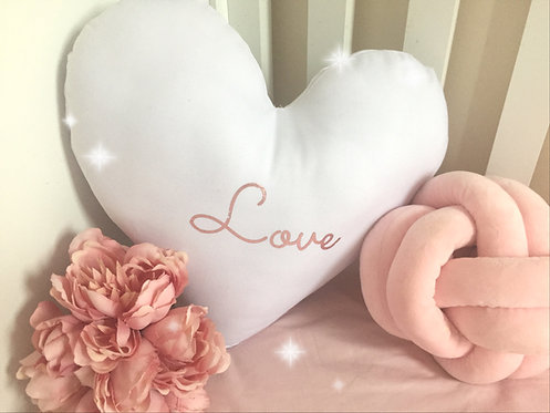 Heart 'Love' Cushion