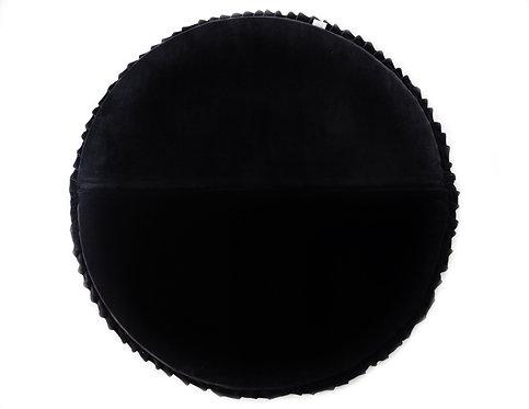 Black Circle Velvet Play mat.
