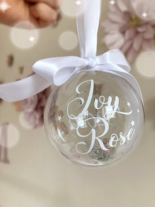 Personalised Sparkle Bauble - 2020