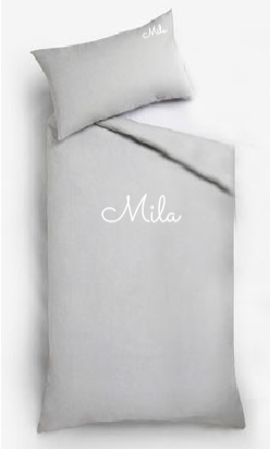 Personalised Bed Sets -Grey