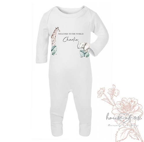Safari Personalised Romper