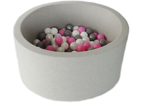 Light Grey Ball Pit with 200 Balls.