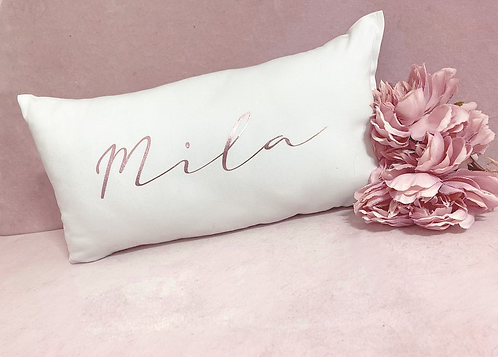 Personalised Signature Font Cushion