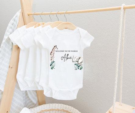 Safari Personalised Baby Vest