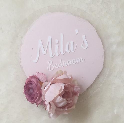 Personalised Floral Bedroom Sign