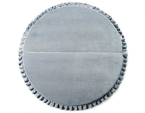 Grey Circle Velvet Play mat.