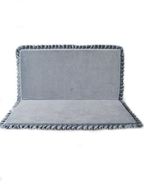 Grey Rectangle Velvet Play mat.