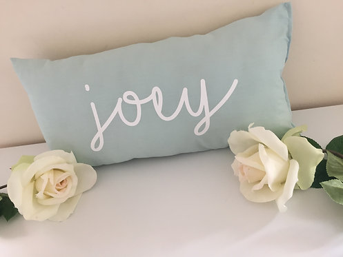 Duck Egg Blue Personalised Rectangle Cushion