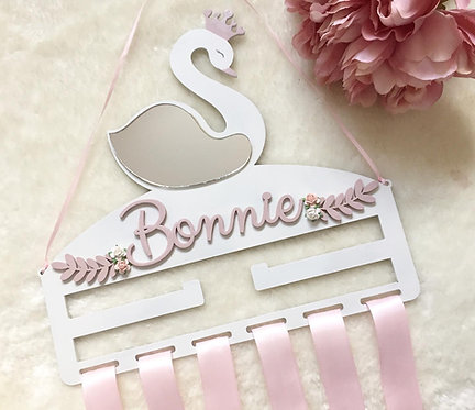 Personalised Swan Bow Holder